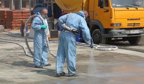 Гидроизоляция бетона полимочевиной